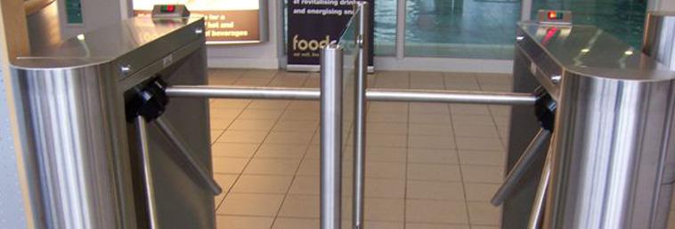 Indoor half height turnstiles security solutions gb