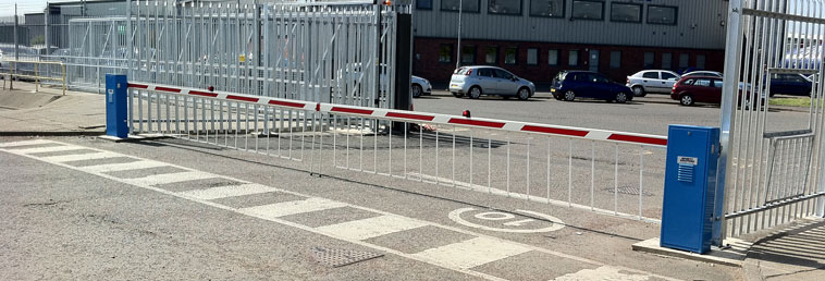 Security barriers automatic rising arm vehicle